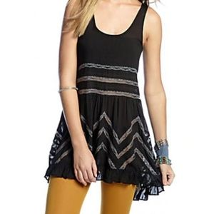 Free people Voile lace slip dress